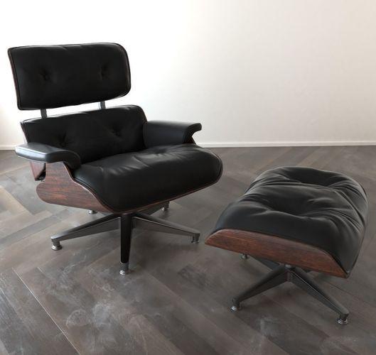 eames lounge chair 3d model obj mtl 3ds fbx blend dae abc 1