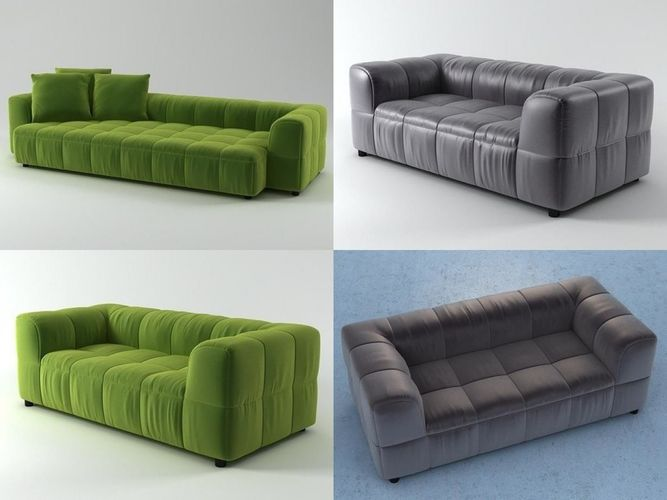strips sofa system 3d model max obj mtl 3ds fbx skp pdf 1