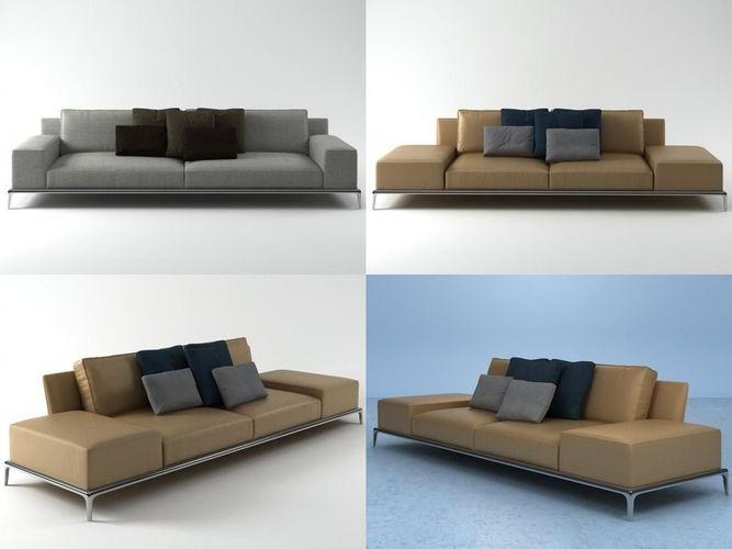 park sofa 305 3d model max obj 3ds fbx c4d skp 1
