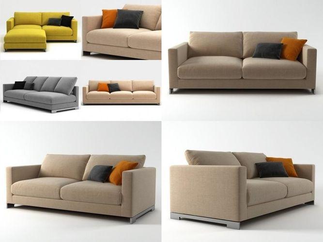 reversi sofa system 3d model max obj mtl 3ds fbx c4d skp 1