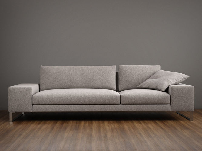 exclusif 2 sofa l 3d model max obj 3ds fbx c4d skp 1