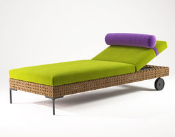 3d model charles chaise lounge