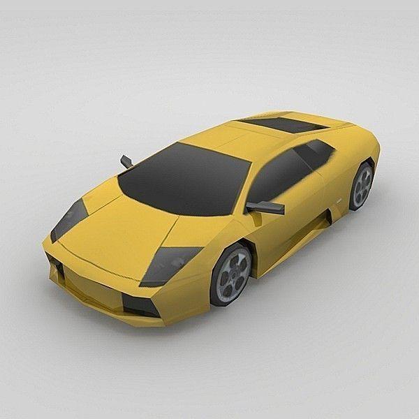 Lamborghini Murcielago: 3D Model Lamborghini Murcielago VR / AR / Low-poly MAX OBJ
