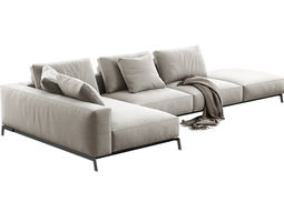 3d model ettore modular sofa