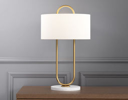 warner table lamp 3d model