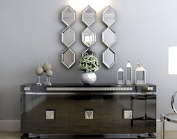 art Mirror Saronno Eichholtz 3D model