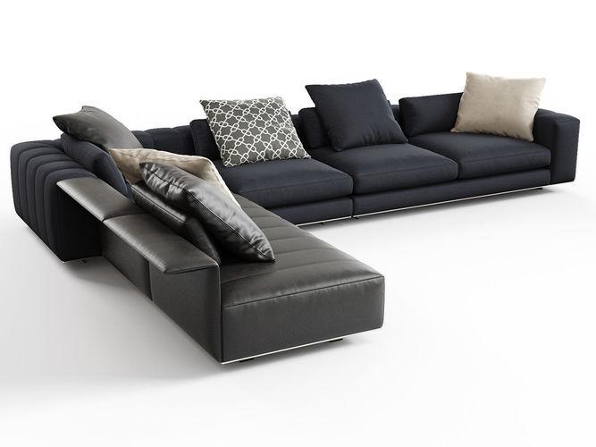 freeman corner sofa system b 3d model max obj mtl fbx c4d skp mxs 1