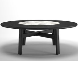 home hotel circular dining table 3d