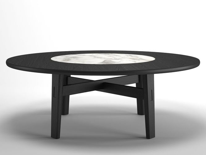home hotel circular dining table 3d model max obj mtl fbx c4d dwg skp 1