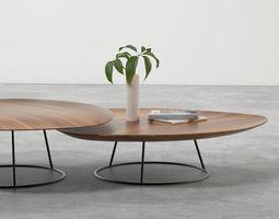 pebble low tables 3d