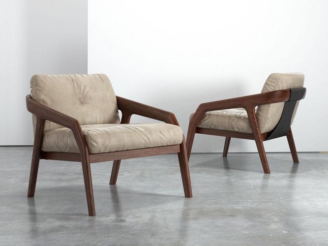 friday lounge chair 3d model max obj mtl 3ds fbx c4d skp 1
