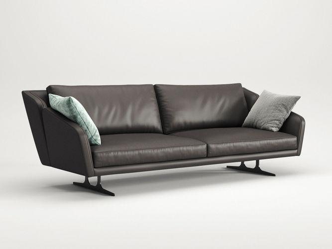 nikita 3 seater sofa 3d model max obj mtl fbx c4d skp mxs 1