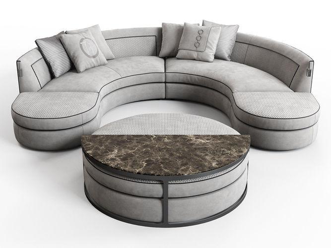 borromeo modular sofa 3d model max obj mtl fbx c4d skp mxs 1