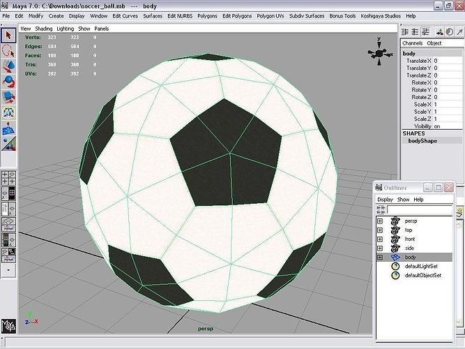 Soccer Ball 3d Model Low Poly Cgtrader