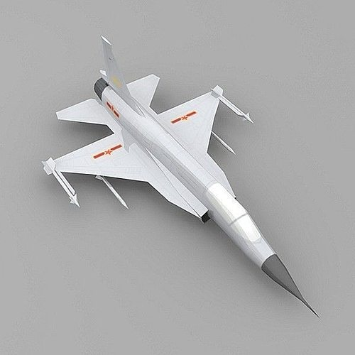 chengdu jf-17 plane 3d model low-poly max obj mtl 3ds ma mb 1