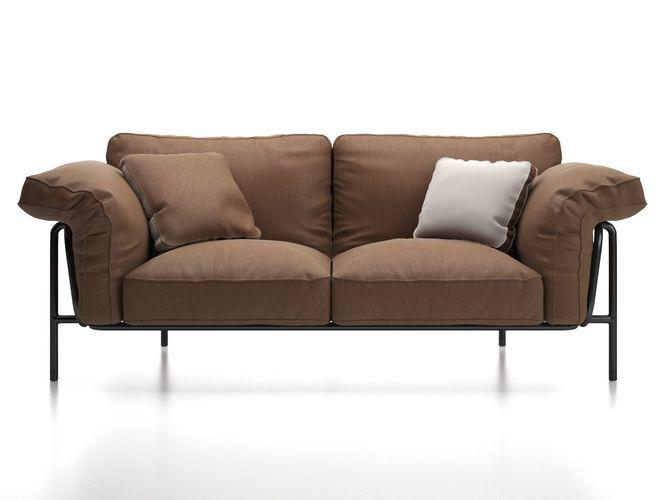 ds 610 2 seater sofa 3d model max obj mtl fbx c4d skp mxs 1
