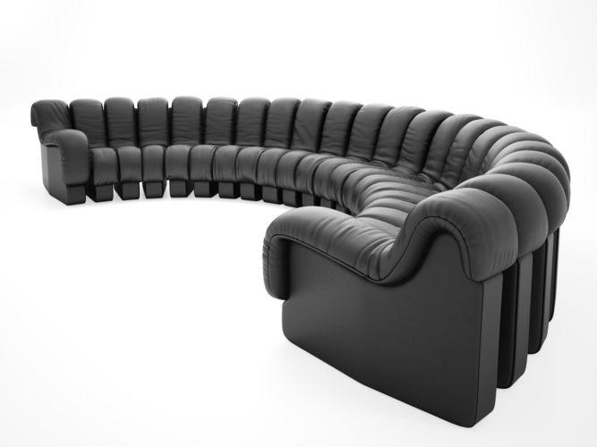 Ds 600 Semi Circle Sofa Model Max Obj Mtl Fbx C4d Skp Mxs 1
