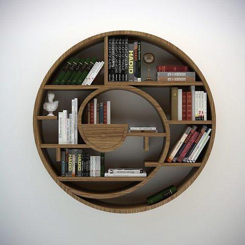 3d Model Circular Bookshelf Cgtrader