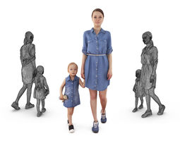 3D model Interior Mother and Baby