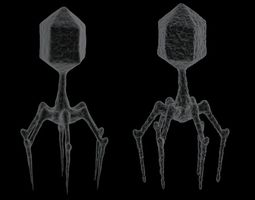 Bacteriophage 2 pack 3D