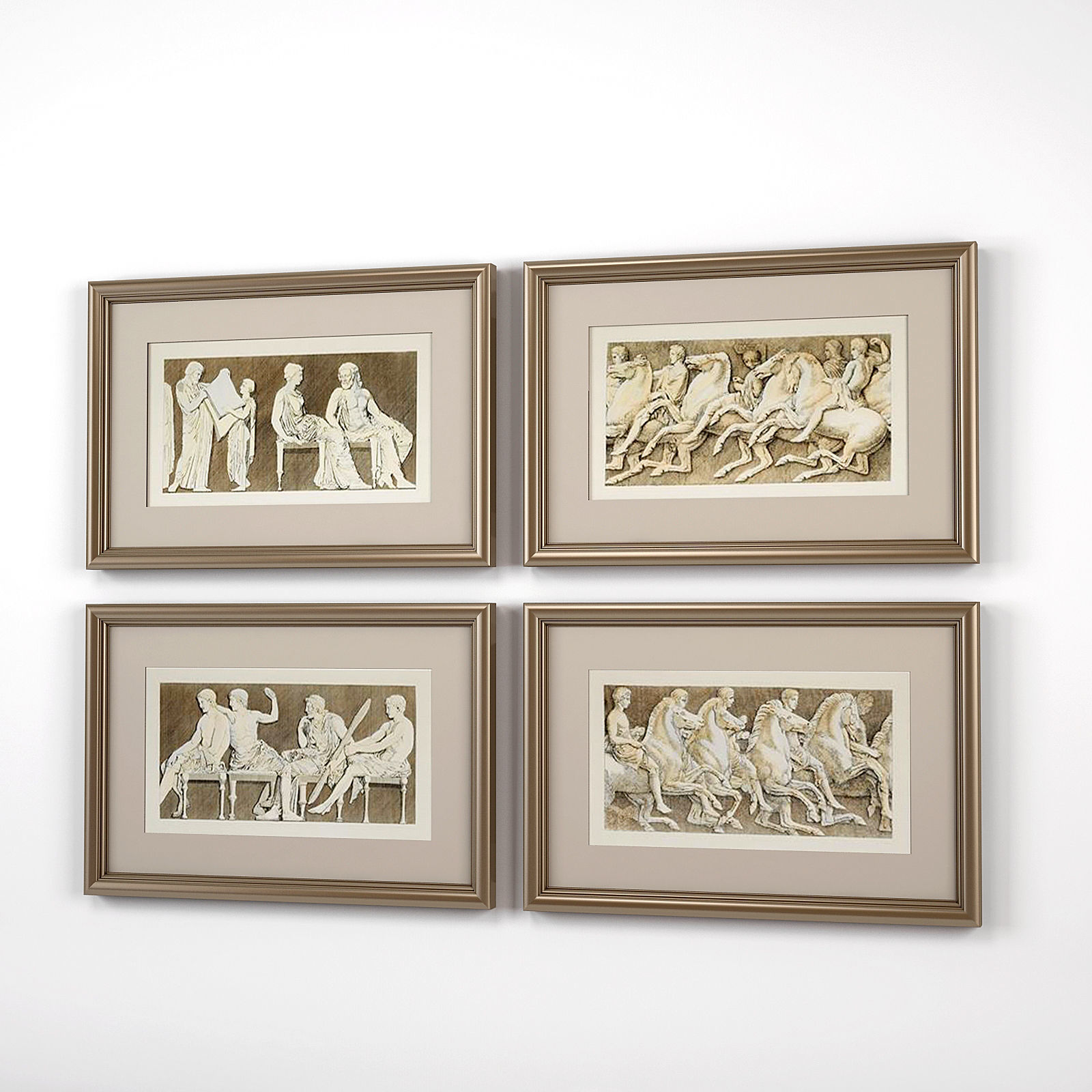Eichholtz Frames Antiquities of Athens set of 4