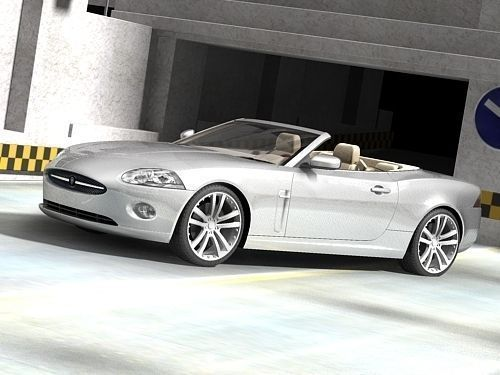jaguar xk 2007 cabrio 3d model max 3ds. Black Bedroom Furniture Sets. Home Design Ideas
