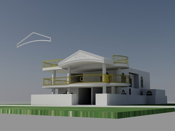 Building Exterior Design 3d Model Dwg 6