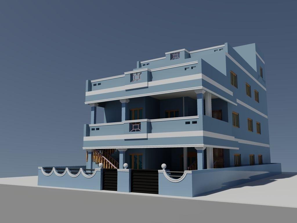 Dubleks villa projesi autocad dubleks villa projesi dwg pictures to - Duplex House 3d Model Dwg 1