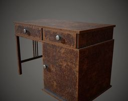 Old Wooden Table PBR Low Poly 3D asset