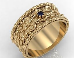 fashion wedding ring 3D