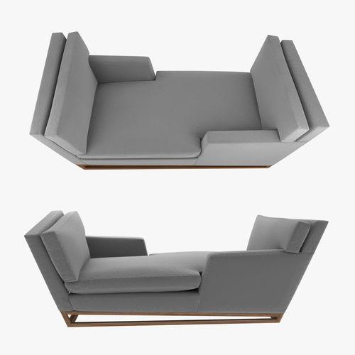 New Contemporary Modern Handmade Tete A Sofa Model Max Obj Mtl S
