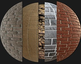5 PBR ROCK AND TILES MATERIALS 3D model