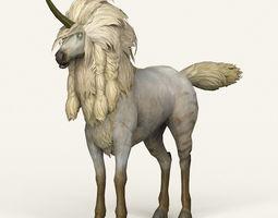 Game Ready Unicorn 3D asset