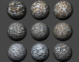 3D Gravel Textures Pack 2