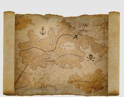 3D asset Treasure Map