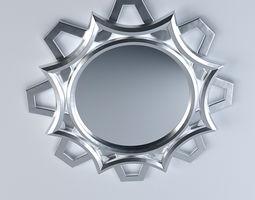 Ornamental Curvy Mirror 3D model
