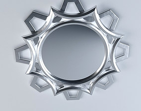 Ornamental Curvy Mirror 3D model