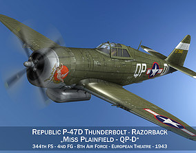 3D model Republic P-47D Thunderbolt - Miss Plainfield