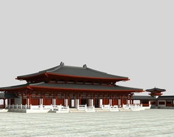 chinese the great buddhas hall 3d model max