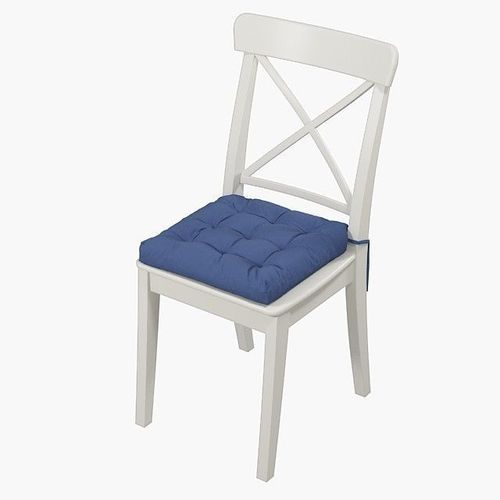 ... Ikea Ingolf Chair With A Pillow Hoff With Simple Colors 3d Model Max  Obj Mtl Fbx ...