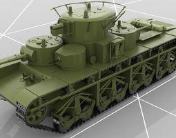 3D Soviet Russian Heavy Tank T-35