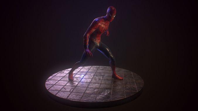 spider-man 3d model obj mtl 1