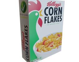 Cornflakes box 3D asset