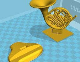 3D printable model French horn desk pen holder office