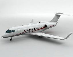Bombardier Challenger 300 Aircraft 3D asset