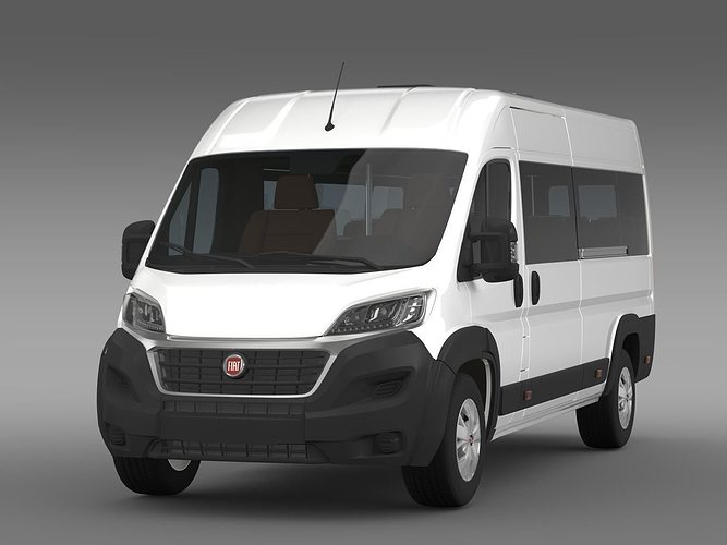 fiat ducato scuolabus 2017 3d model cgtrader. Black Bedroom Furniture Sets. Home Design Ideas