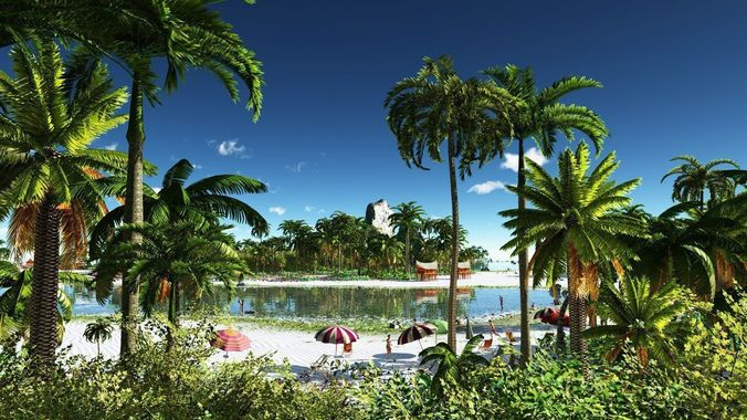 tropical holiday in vue 3d model vue 1