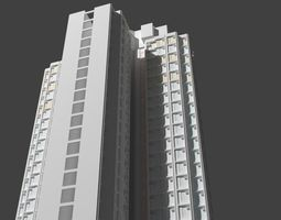 3D model Hong Kong Apartment Building Concorde Type