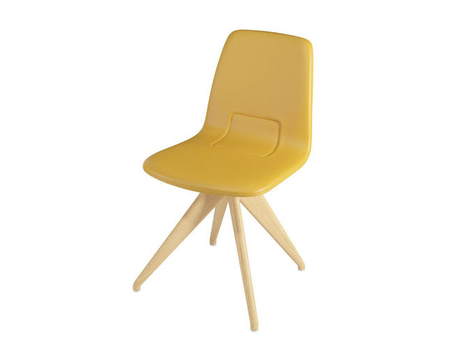 chair torso 837-i potocco mustard leather and natural ash 3d model max obj mtl fbx 1