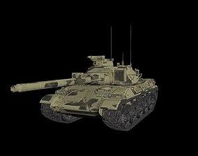 3D asset AMX 30 lowpoly